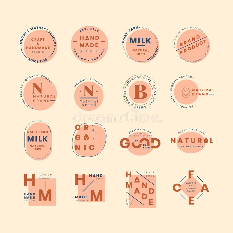 Комплект векторов дизайна значка логотипа бесплатная иллюстрация