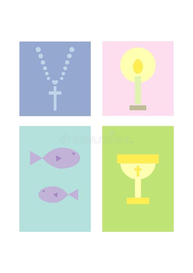 комплект вероисповедания clipart христианства иллюстрация вектора