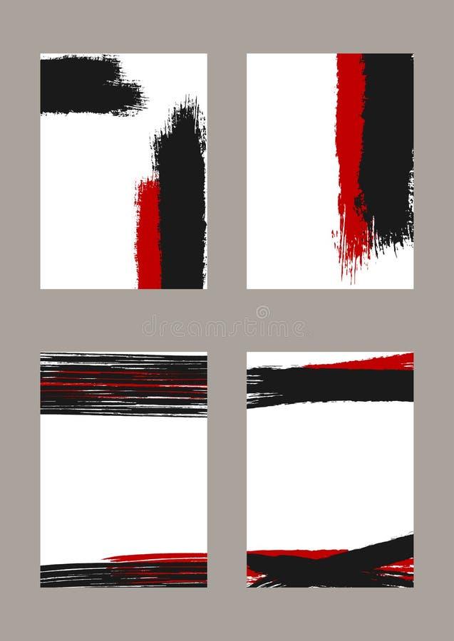 Комплект вертикальных предпосылок grunge Fordesign шаблонов знамен, крышек, приглашений иллюстрация штока
