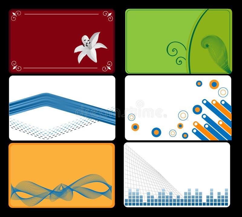 комплект визитной карточки бесплатная иллюстрация