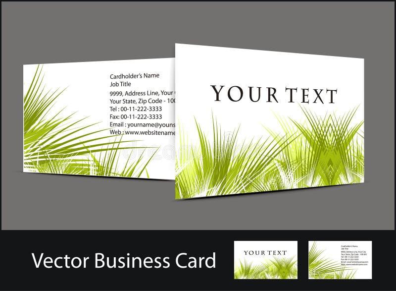 комплект визитной карточки иллюстрация штока