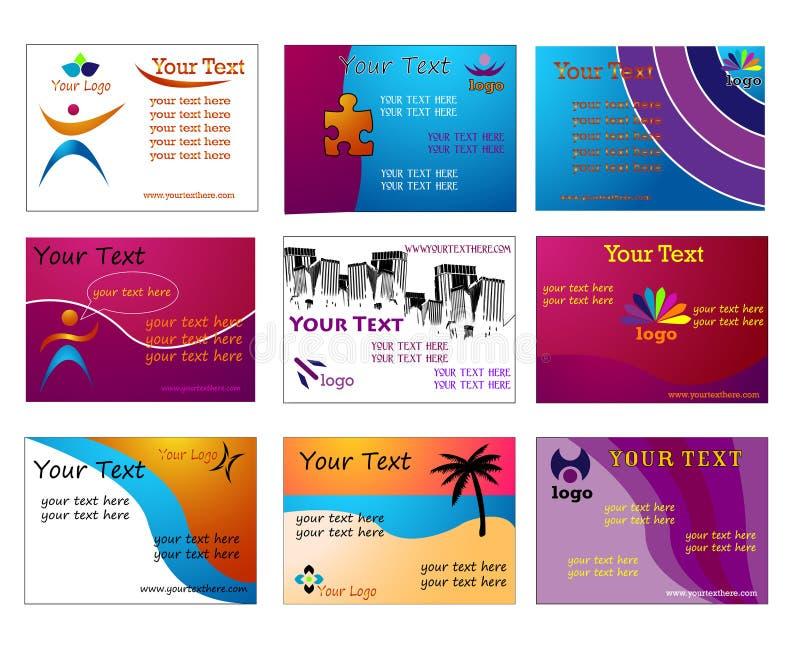 комплект визитных карточек самомоднейший стильный иллюстрация вектора