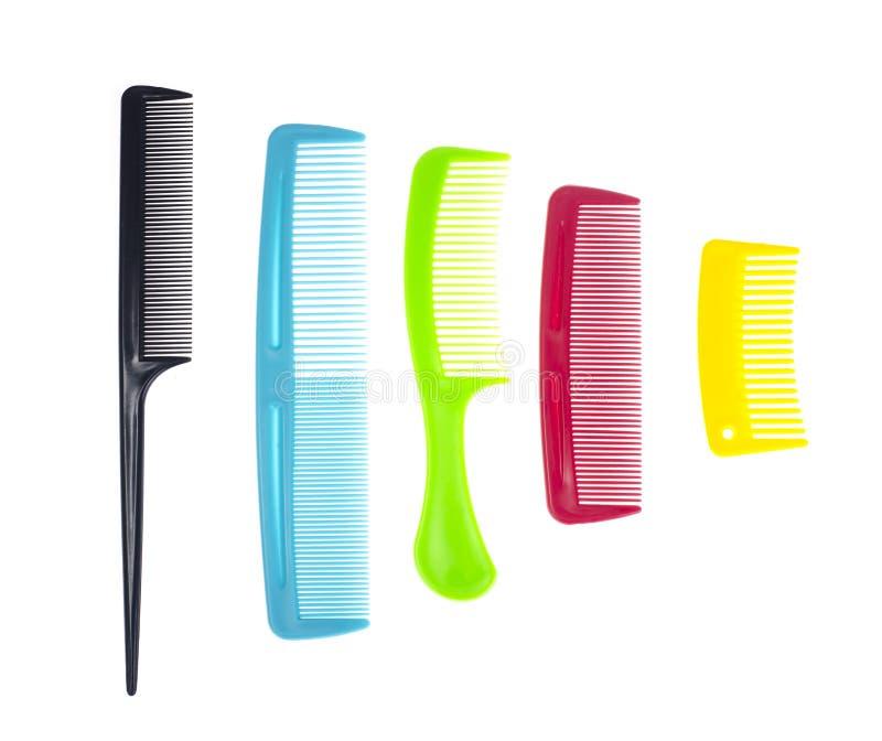 Комплект волос гребня цвета стоковые изображения