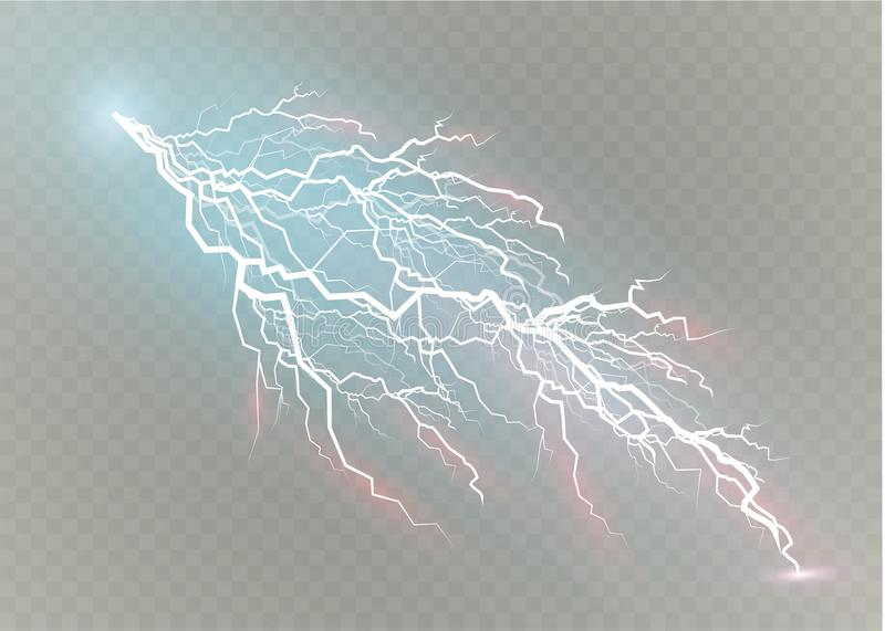 Комплект волшебства молнии и ярких световых эффектов также вектор иллюстрации притяжки corel Электрический ток разрядки Течение о иллюстрация вектора