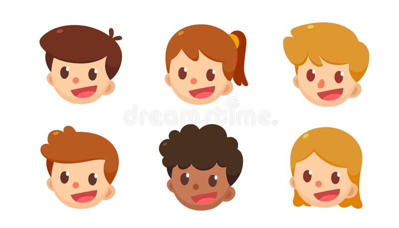 Комплект воплощения шаржа Милые мальчики и девушки в различных стилях бесплатная иллюстрация