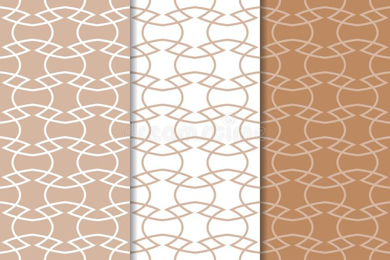 Комплект геометрических орнаментов Брайн и белые безшовные картины бесплатная иллюстрация