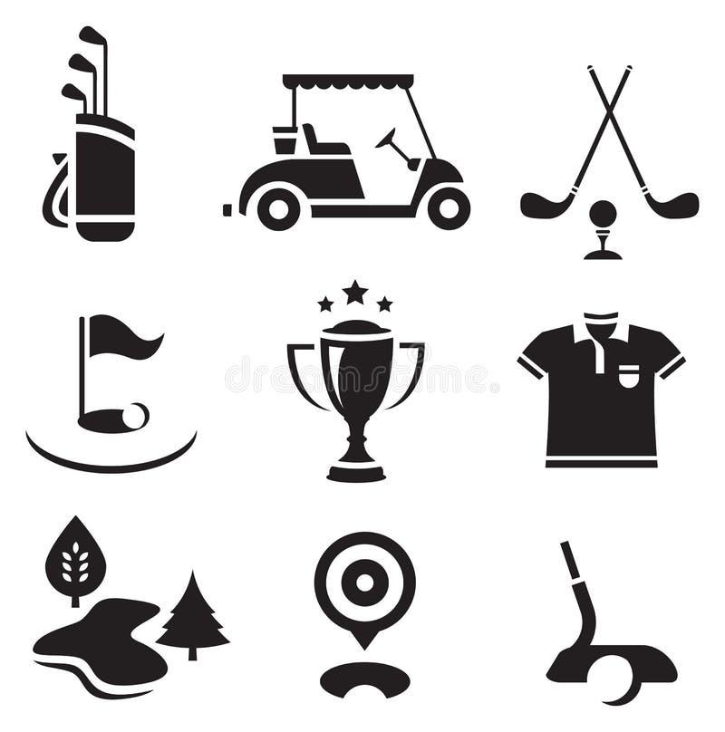 комплект гольфа бесплатная иллюстрация