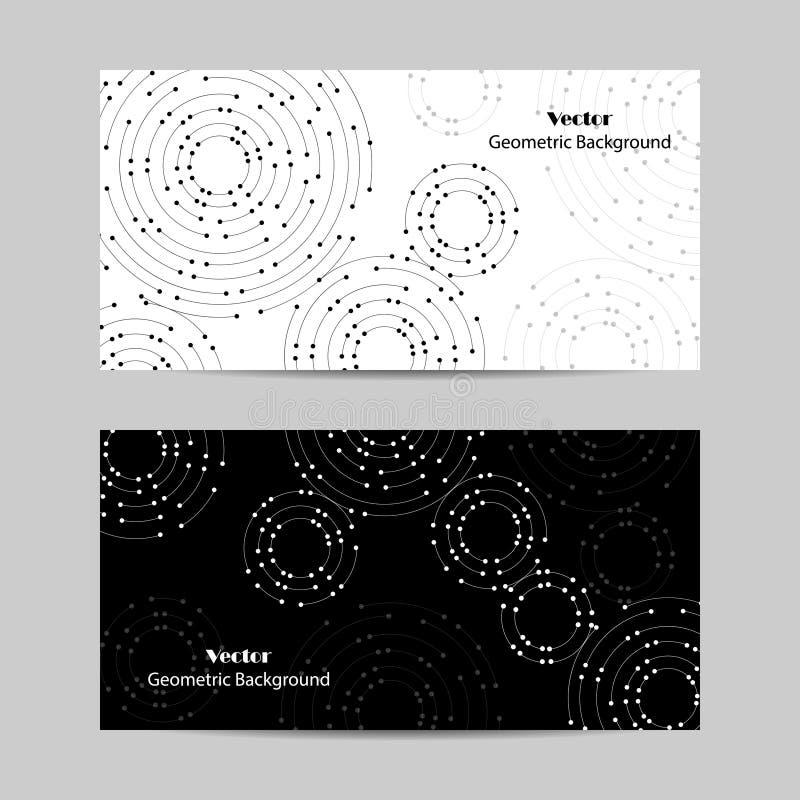 Комплект горизонтальных знамен Геометрическая картина с соединенными линиями и точками бесплатная иллюстрация