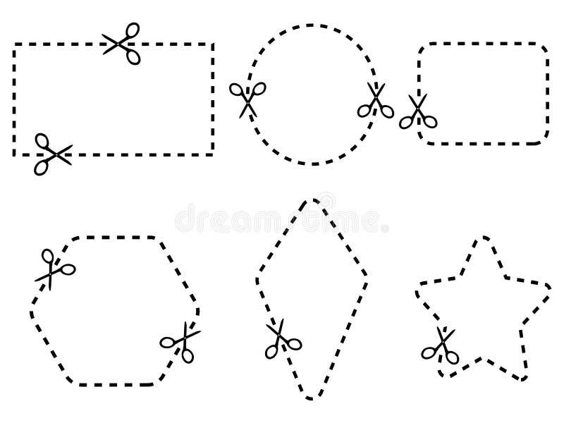 Комплект границы талона, вектор иллюстрация штока