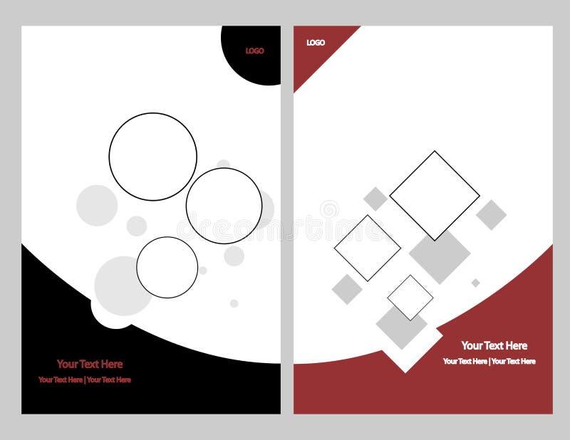 комплект графика брошюры иллюстрация штока