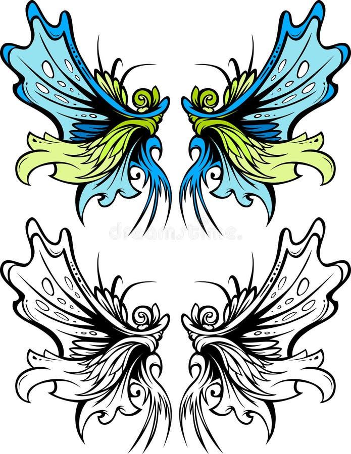 Комплект графика крылов фе иллюстрация вектора