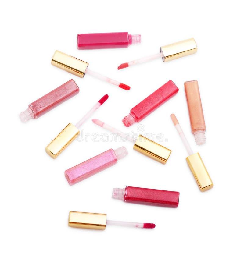 комплект губы лосков цветов различный стоковые фотографии rf