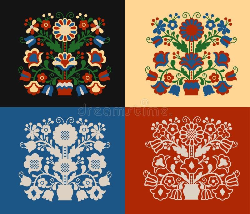 Комплект дерева ` орнамента ` жизни иллюстрация вектора