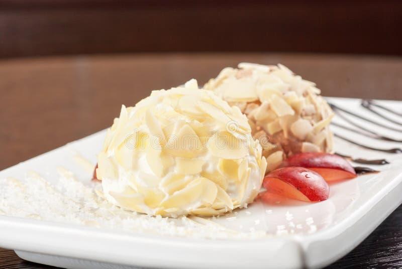 Комплект десерта стоковое изображение