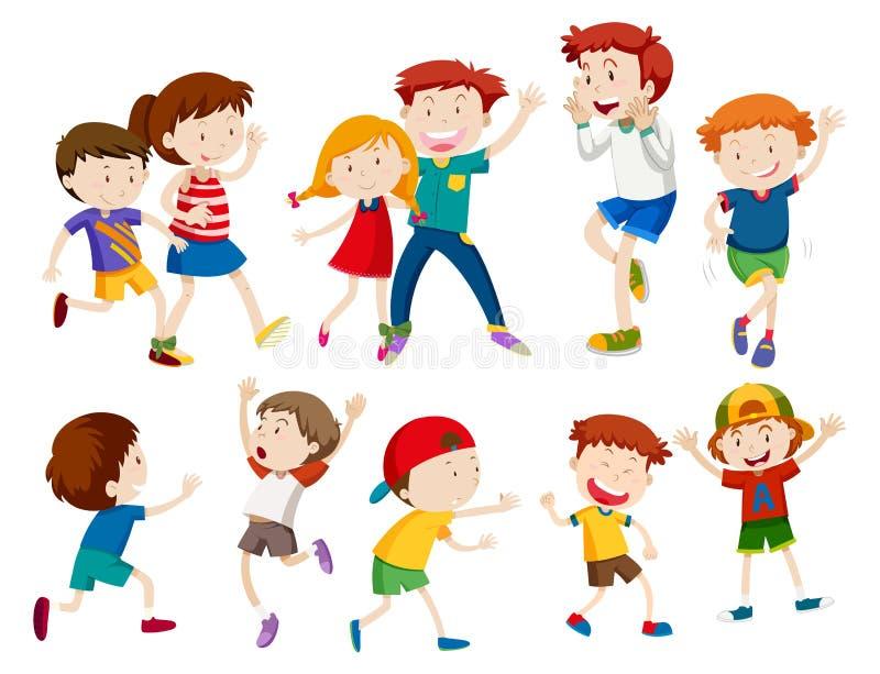 комплект детей счастливый иллюстрация вектора