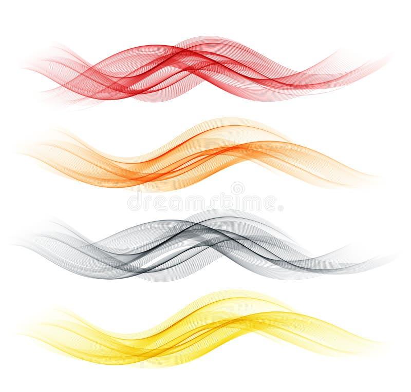 Комплект дизайна абстрактного дыма волны цвета прозрачного волнистого бесплатная иллюстрация