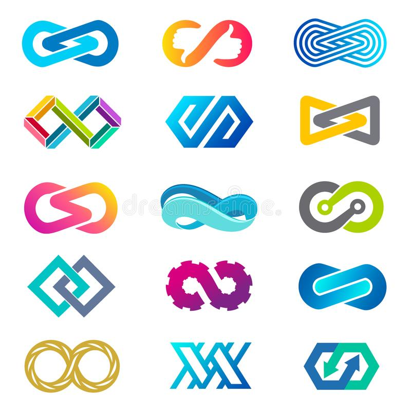 Комплект дизайна логотипа вектора для дела Знак безграничности бесплатная иллюстрация
