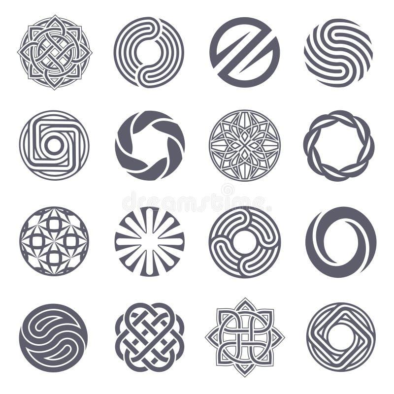 Комплект дизайна логотипа вектора Логотип круга иллюстрация вектора