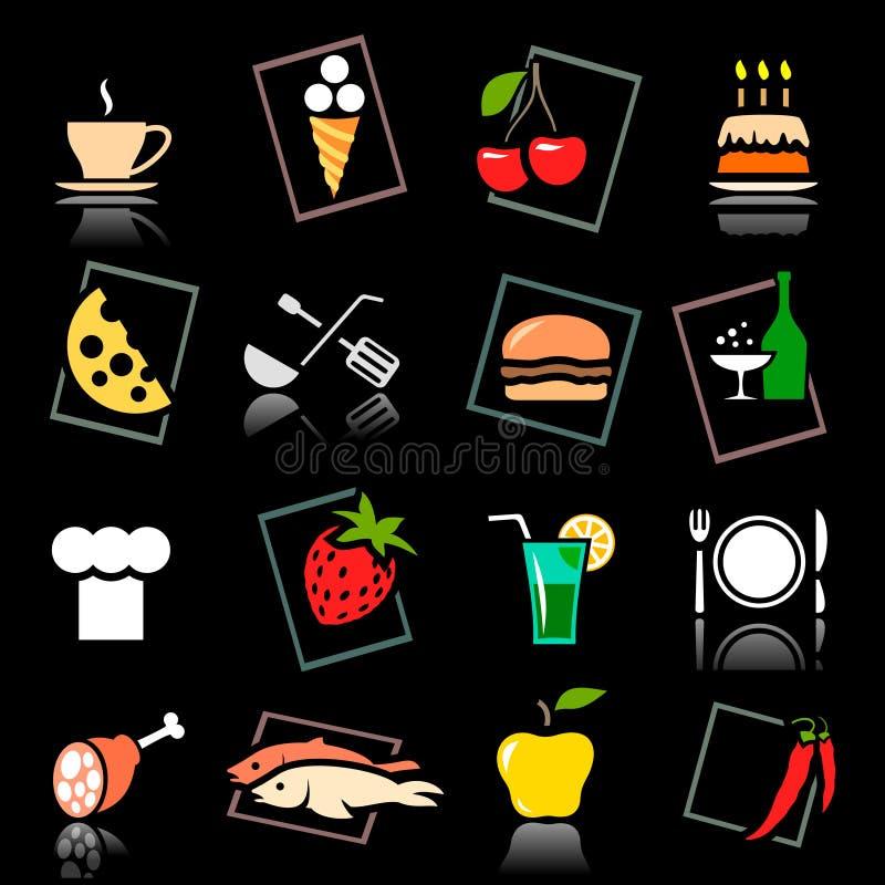 комплект еды питья иллюстрация штока