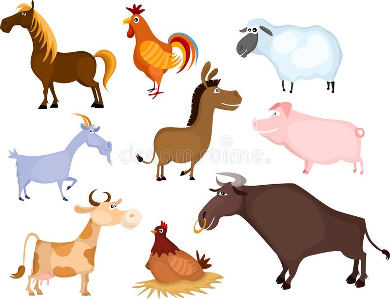 комплект животной фермы иллюстрация вектора
