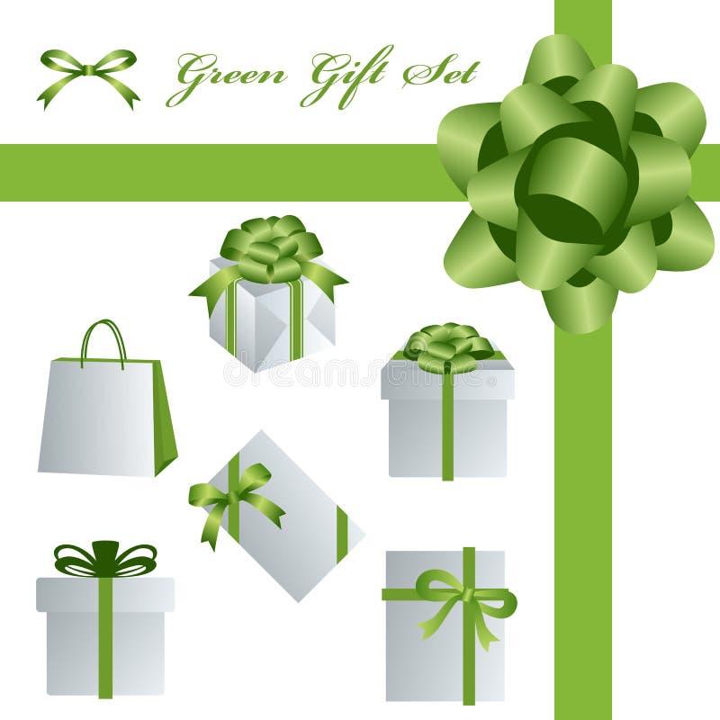 комплект зеленого цвета подарка бесплатная иллюстрация