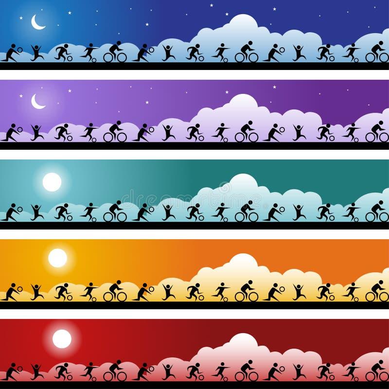 комплект знамени athelete бесплатная иллюстрация