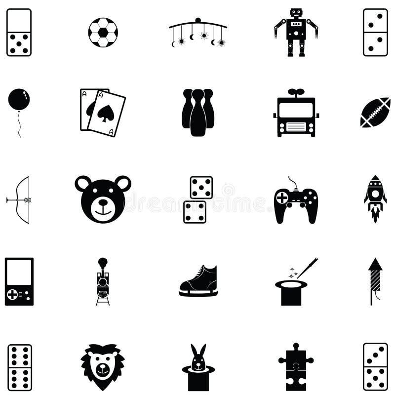 Комплект значка игрушки иллюстрация вектора