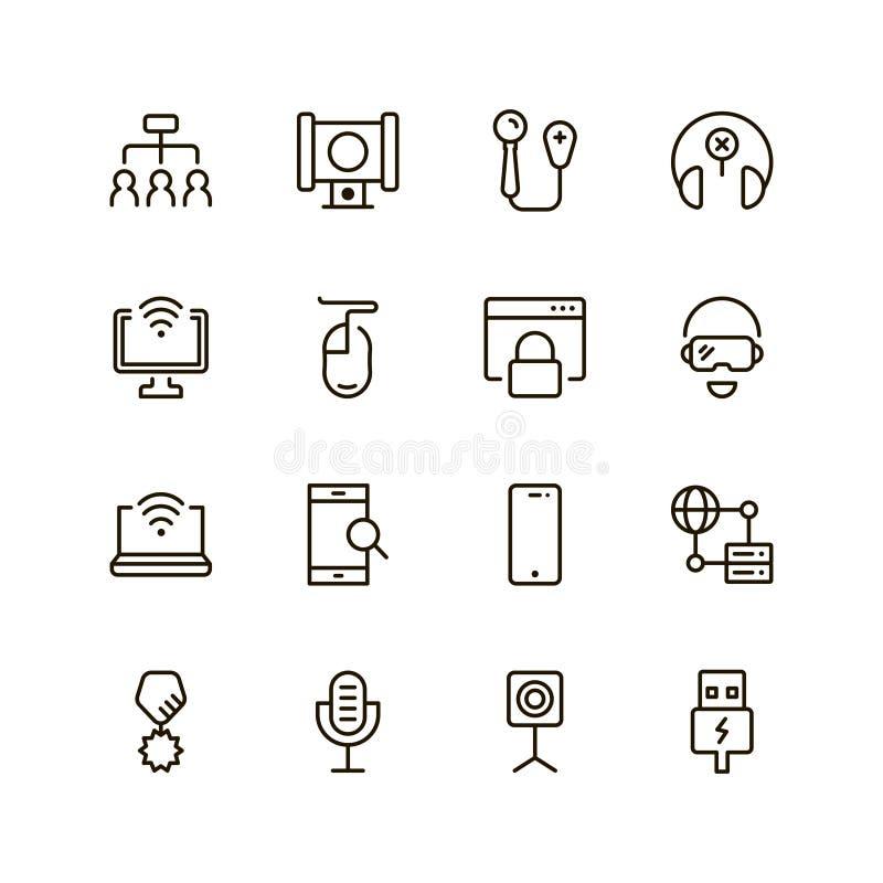 Комплект значка игры бесплатная иллюстрация