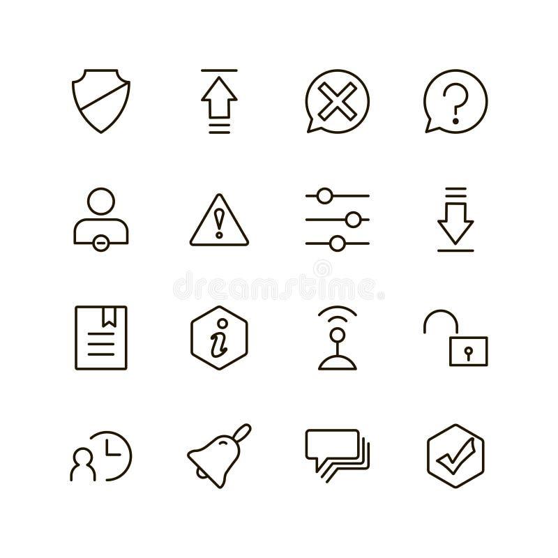 Комплект значка интерфейса иллюстрация штока