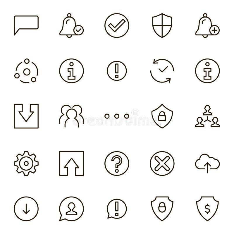 Комплект значка интерфейса бесплатная иллюстрация