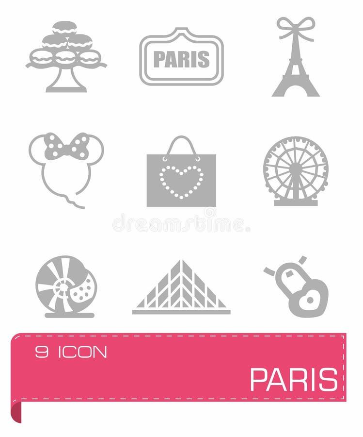 Комплект значка Парижа вектора иллюстрация штока