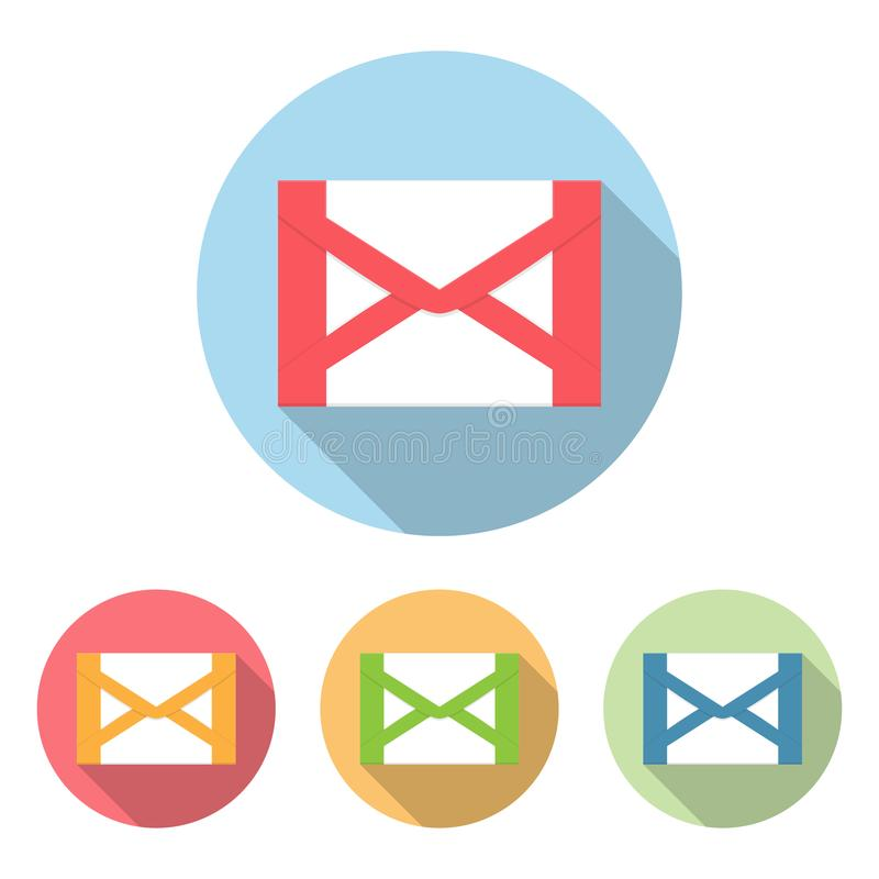 Комплект значка почты в плоском стиле также вектор иллюстрации притяжки corel бесплатная иллюстрация