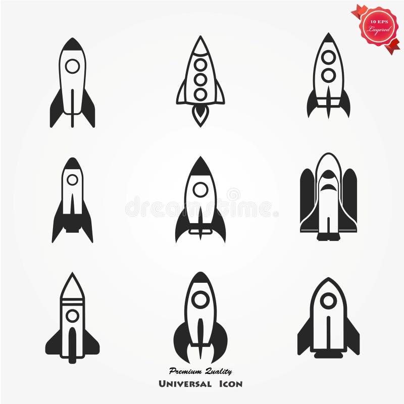 Комплект значка Ракеты бесплатная иллюстрация