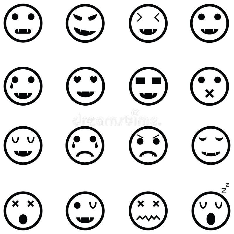 Комплект значка эмоции иллюстрация штока