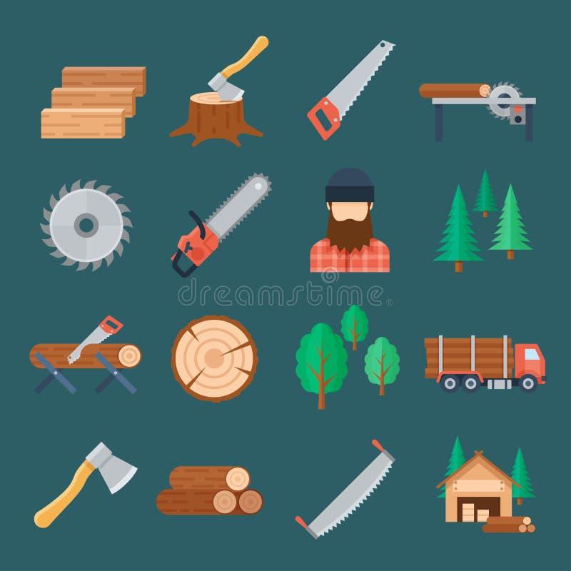 Комплект значка Woodcutter бесплатная иллюстрация