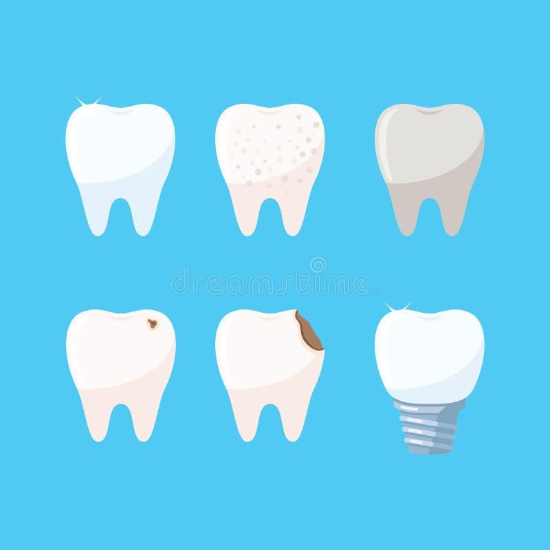 Комплект значков зубов стоковые фото