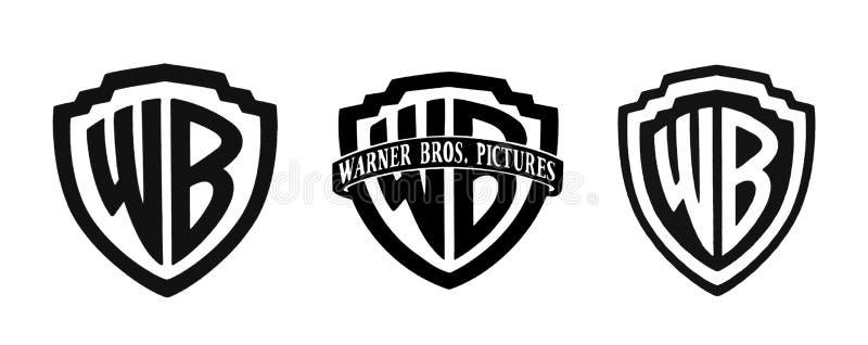 Комплект известных логотипов киностудий стоковые изображения rf