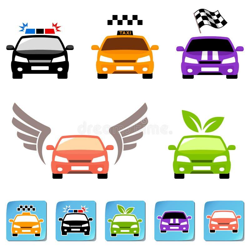 Комплект иконы автомобиля бесплатная иллюстрация