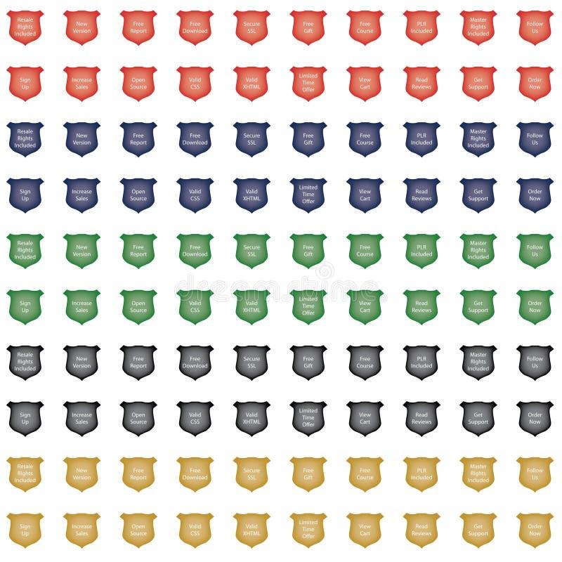 комплект иконы гребеня лоснистый бесплатная иллюстрация