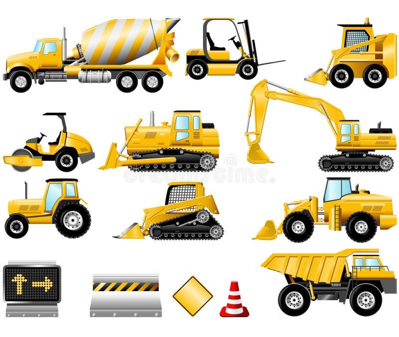 комплект иконы конструкции иллюстрация вектора