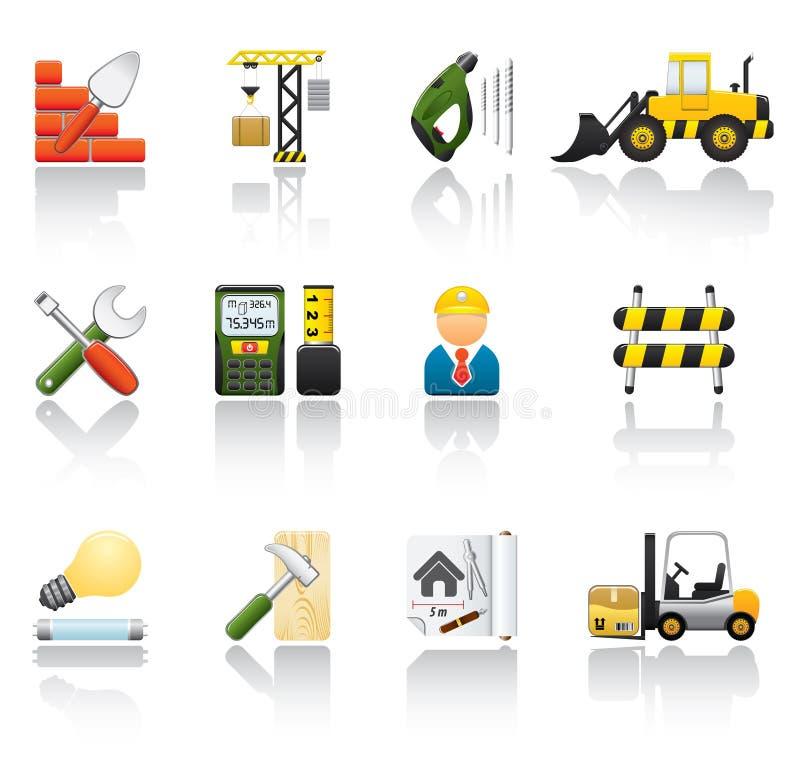 комплект иконы конструкции бесплатная иллюстрация