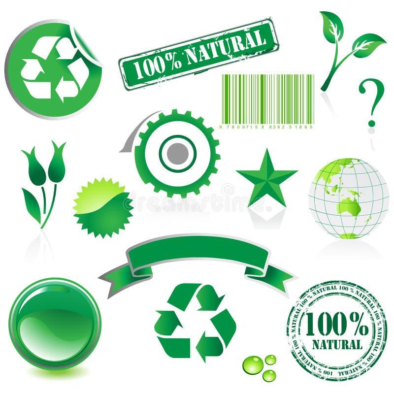 Комплект иконы окружающей среды бесплатная иллюстрация