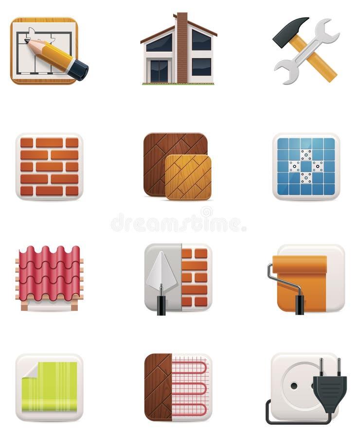 Комплект иконы реновации дома. Часть 2 иллюстрация штока