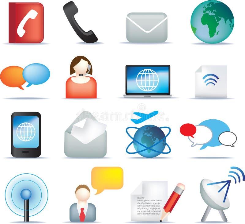 комплект иконы связи бесплатная иллюстрация