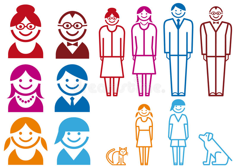 комплект иконы семьи