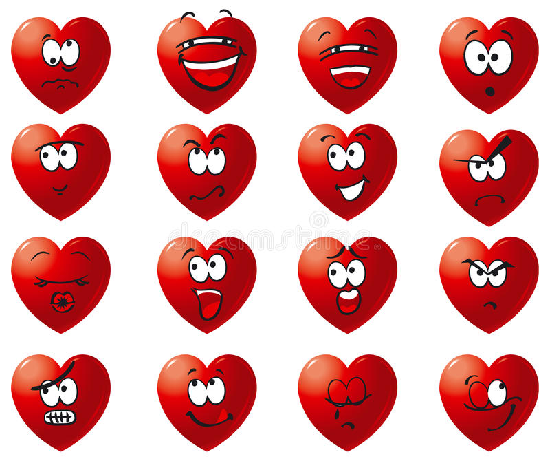 комплект иконы сердец иллюстрация штока