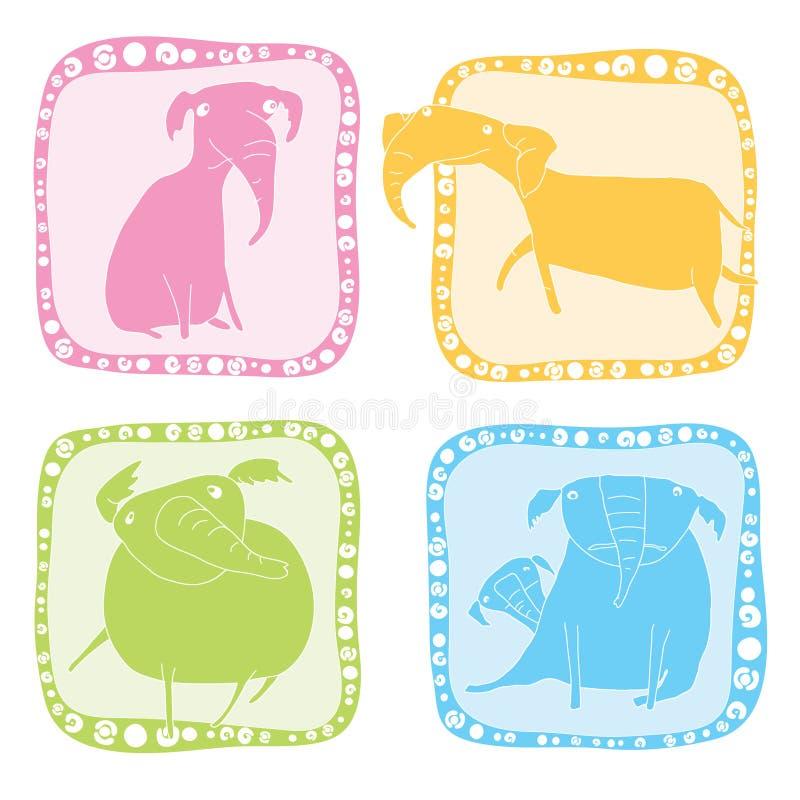 комплект иконы слона стоковая фотография
