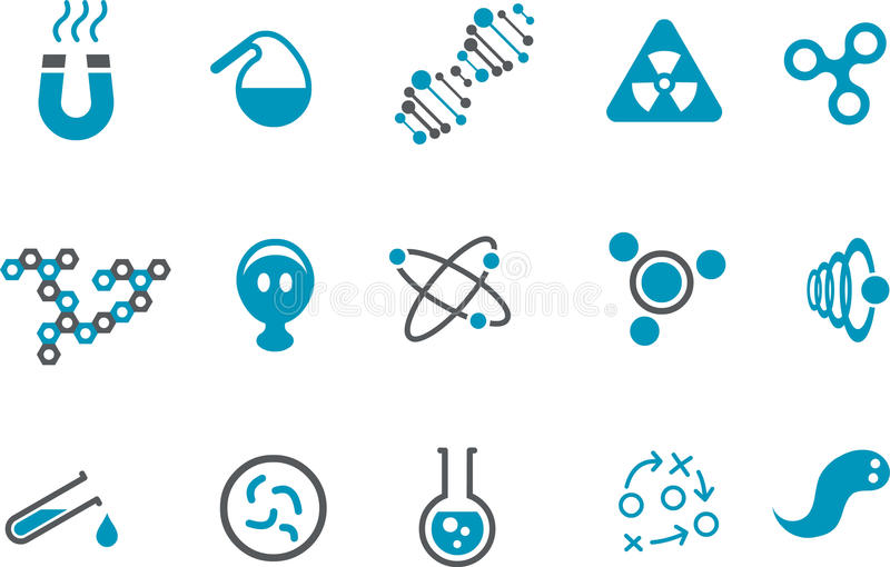 комплект иконы химии бесплатная иллюстрация