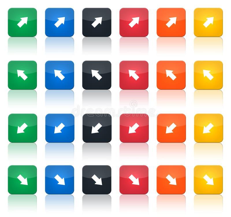 комплект иконы 2 стрелок иллюстрация вектора