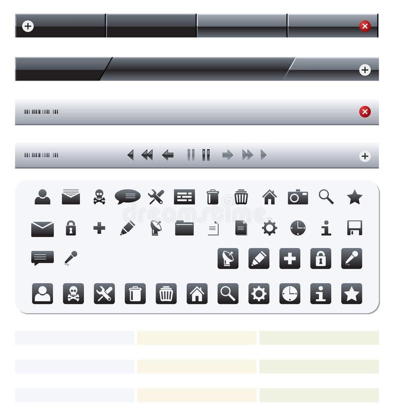 комплект иконы иллюстрация вектора